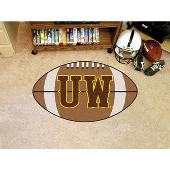 "Product Image: Wyoming Football Rug 20.5""x32.5"""