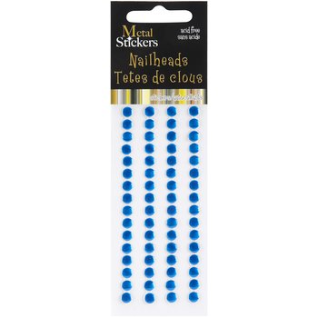Product Image: Metal Stickers Nailheads 5mm Round 64 Per Package-Blue