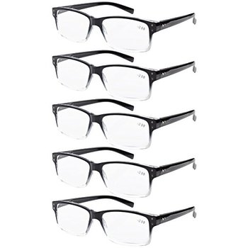 4858e7d7abe Product Image  Men 5-pack Spring Hinges Vintage Reading Glasses Readers  Black-clear