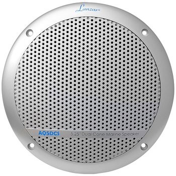 300 Watts 5.25'' Dual Cone Marine Speakers (Silver Color)