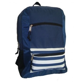 "Product Image: 600D Poly Backpack, 18""x13""x5.5"", Navy. (Pack of 40)"