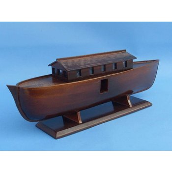 "Noah's Ark 14"" - Handcrafted Model Ship - Religious Ship Replica - Wooden Noahs Ark Replica - Ready To Display - Brand New - Sold Fully Assembled - Not a Model Ship Kit"