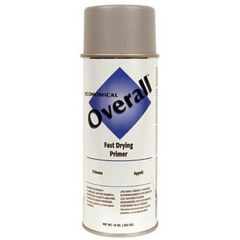 Overall Economical Fast Drying Enamel Aerosols, 10 Oz, Sandable Gray P