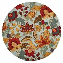 safavieh blossom country & floral area rug collection - Round 4'